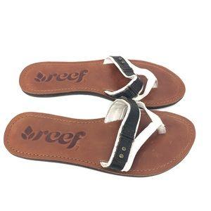 Reef Leather Flip Flop Sandals